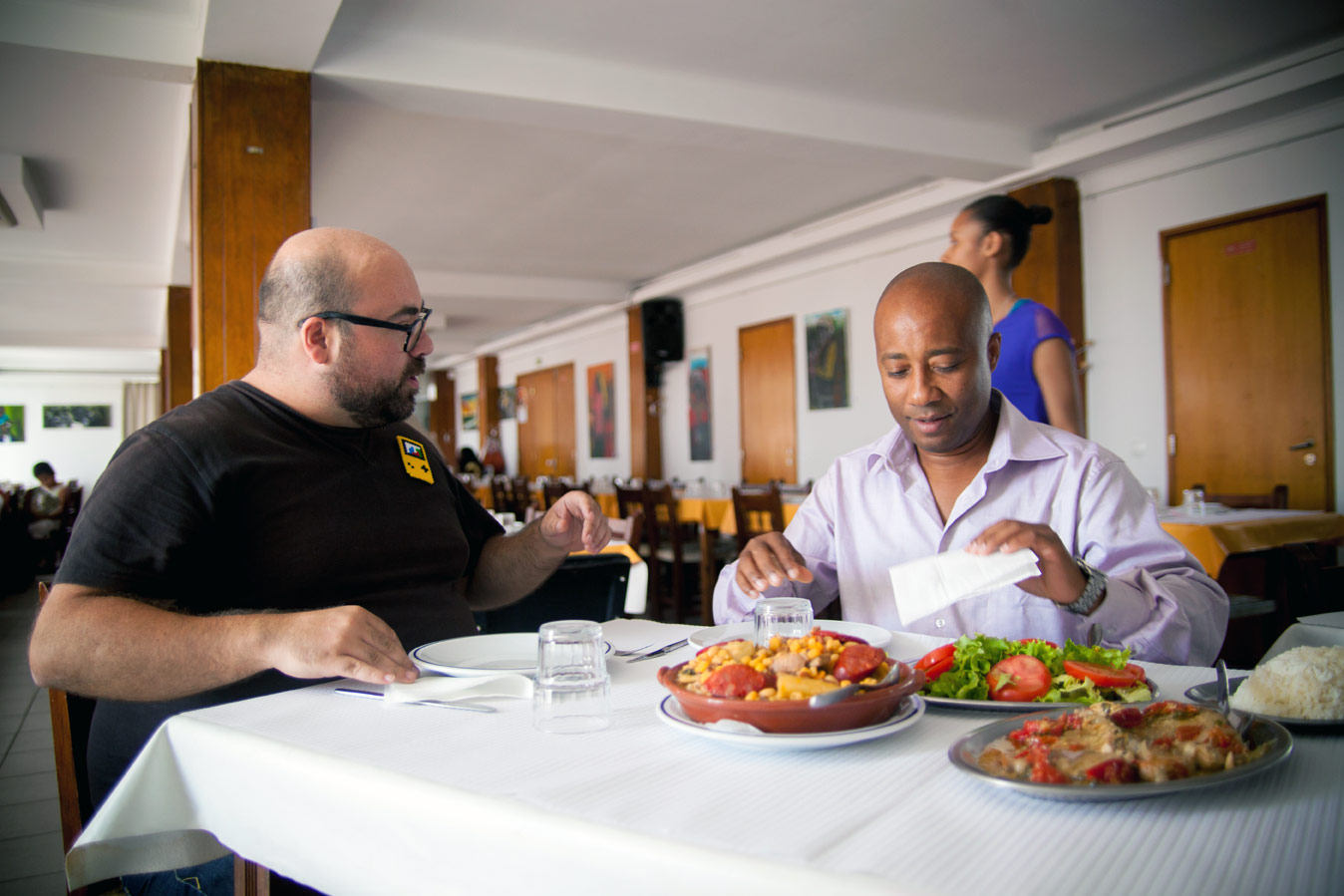 Lunch at Associação Cabo Verdeana, in Lisbon